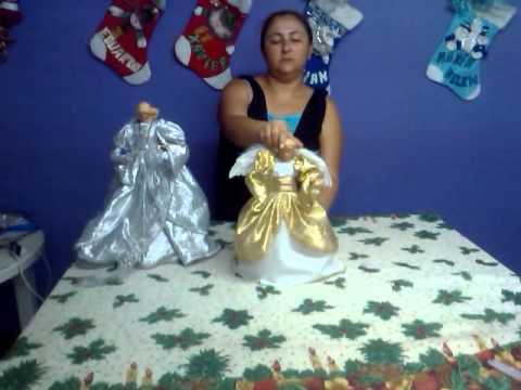 Como hacer un angel navide o 5 de 5 youtube - Crear christmas de navidad ...