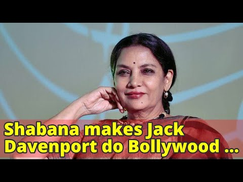 Shabana makes Jack Davenport do Bollywood dance
