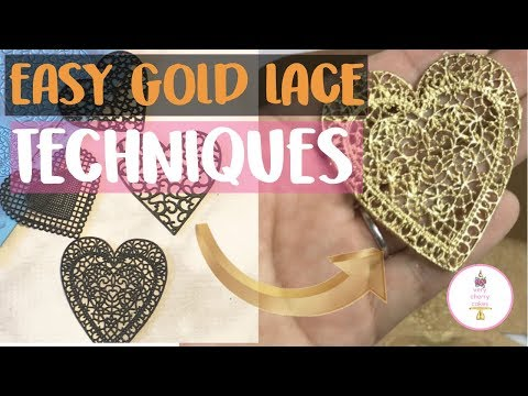 HOW TO PAINT GOLD EDIBLE LACE