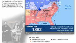 History of the American Civil War 1861 - 1865 Map