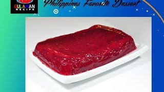 Thanksgiving Cranberry Jelly Pinoy Gulaman Recipe