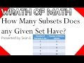 How Many Subsets Does any Given Set Have