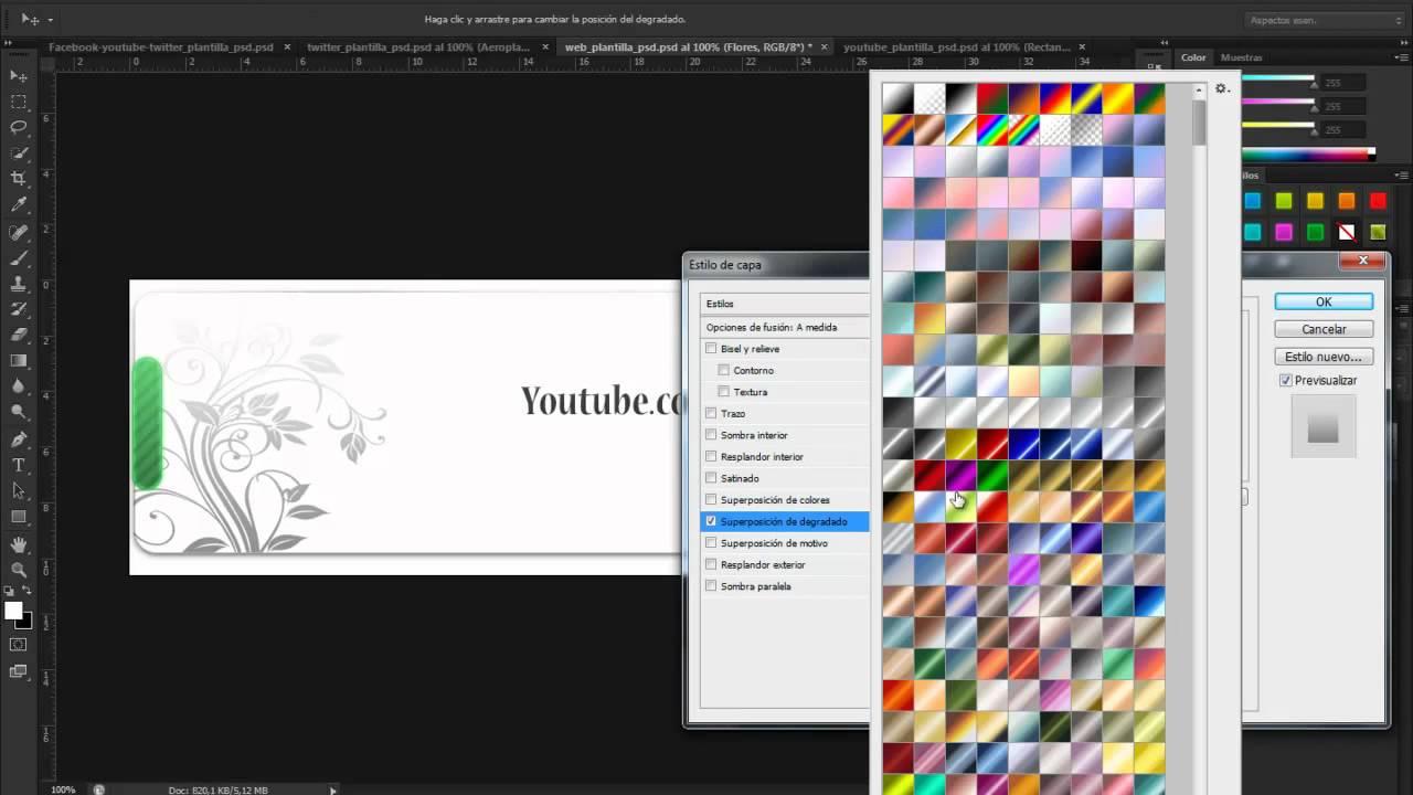 4 Plantillas gratis [Photoshop CS6] - YouTube
