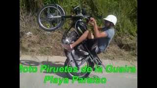 MOTO PIRUETAS DE LA GUAIRA EN PLAYA PARAISO @ Junior Pirueta