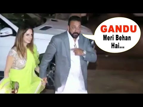 Sanjay Dutt's FUNNY Moment With Hrithik Roshan's ExWife Suzanne Khan At His Diwali Party 2017