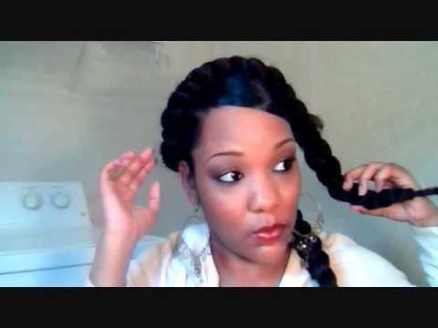 Goddess Braids Using 100 Kankelon Hair Youtube