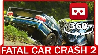 360° VR VIDEO - Distracted Driver in First Person- Fatal Car Crash Accident (Sensibilisation)