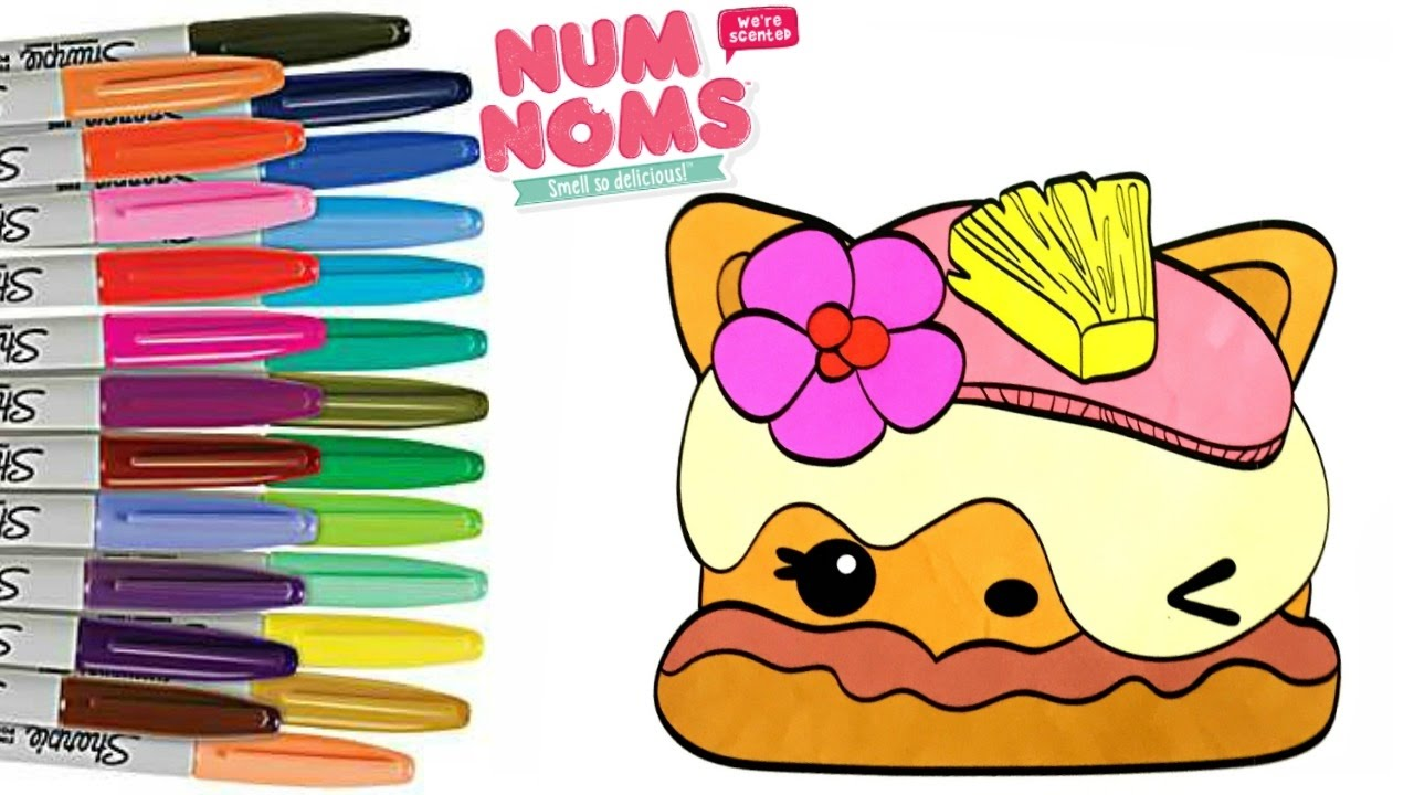 Num Noms Coloring Book Page Pina