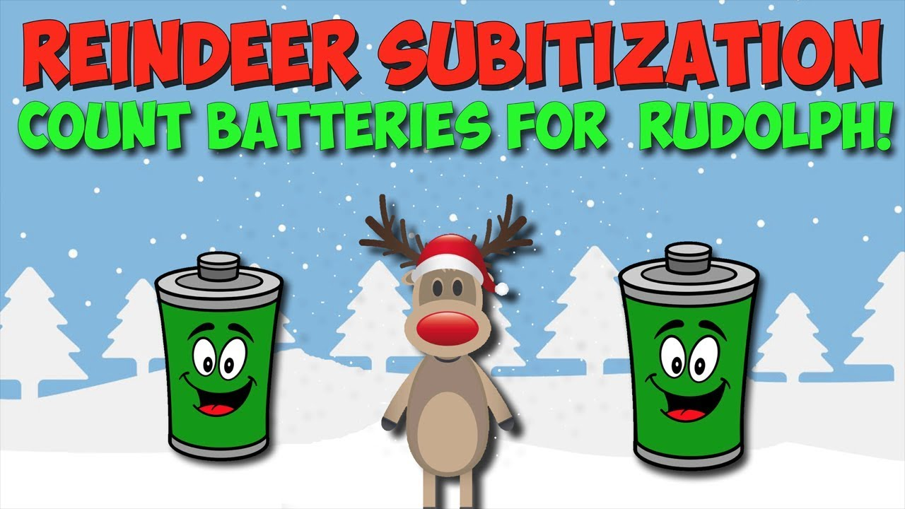 Reindeer Subitization- A Christmas Math Song! - YouTube