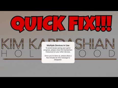 HOW TO FIX THE MULTIPLE DEVICES ERROR MESSAGE|KIM KARDASHIAN HOLLYWOOD GAME|IOS & ANDROID||OMA KKH