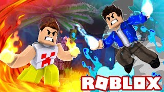 FIRE ELEMENT VS. DE AGUA! WHICH IS THE STRONGEST? ROBLOX!!!
