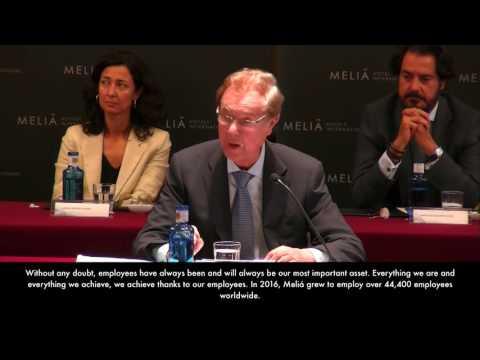 Junta General de Accionistas de Meliá Hotels International – Discurso del Presidente