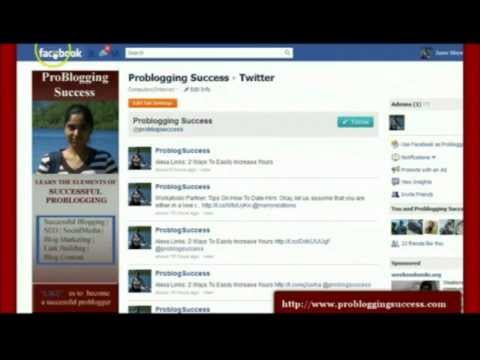 Add Twitter Tab To Your Facebook Fan Page