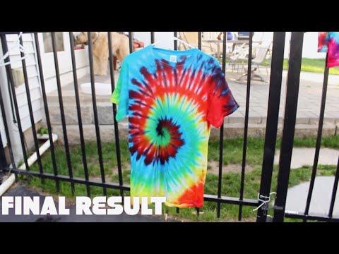 DIY Tie Dye Shirt - Rainbow Spiral