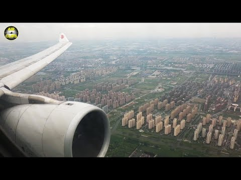 Shanghai - UNBELIEVEABLE Dimensions seen during Air China A330 Landing in Hongqiao [AirClips]