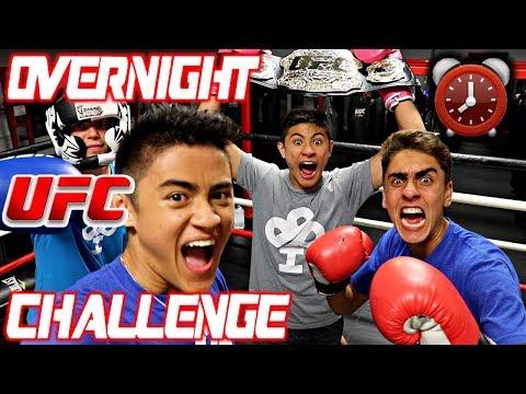24 HOUR OVERNIGHT CHALLENGE IN UFC GYM!!