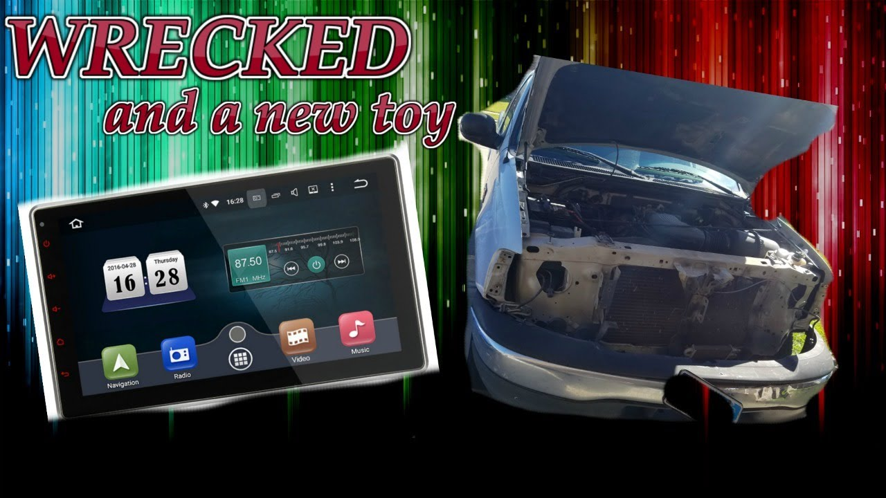 pumpkin 10 1 touchscreen radio/ wrecked truck