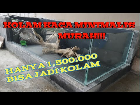#part1-#kolamkoi-#aquascape-cara-pembuatan-kolam-kaca-minimalis-sederhana-dari-awal-sampai-akhir.