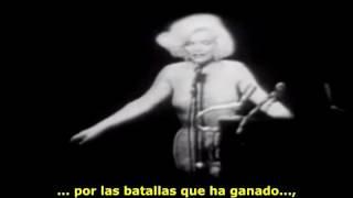 Marilyn Monroe: Happy Birthday, Mr. President (Subtitulada en español) (Escena completa)