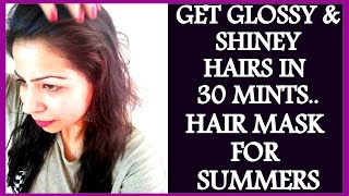 How to Get Shiny, Silky Smooth Hair at Home in 30 Minutes  Homemade Hair Mask For Dry Damaged Hair