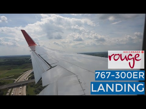 SUNNY BUDAPEST APPROACH   LANDING    Toronto To Budapest   Air Canada Rouge 767-333ER (C-FMXC)