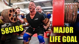 THE BIG 6 PLATE SQUAT - 585LBS - WITH MARK BELL