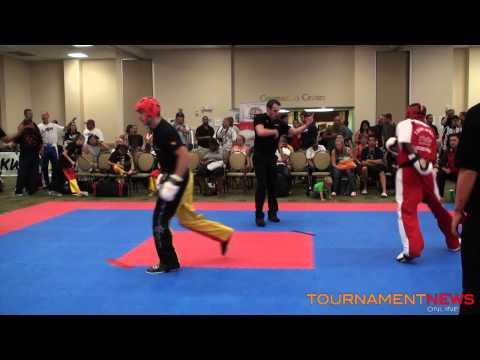 Tom Harze vs Nick Clarke Point Fighting  75kg Final at WKA World Championships 2012