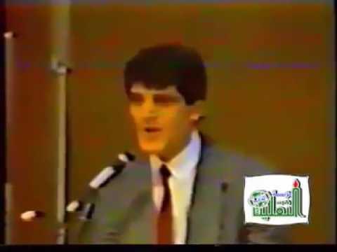 نادر جداً لأول مرة شاهد إلقاء الشاعر احمد مطر للشعر