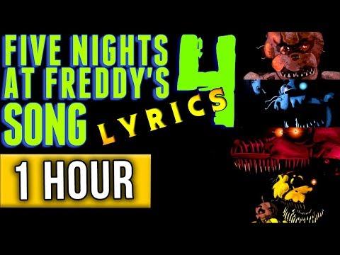 "1 HOUR► FIVE NIGHTS AT FREDDY'S 4 SONG ""Bringing Us Home"" (Lyric Video) FNAF 4"