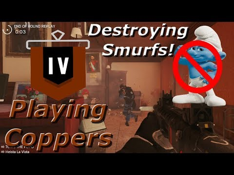Destroying Smurfs! Road To Copper - Rainbow Six Siege Funny Moments