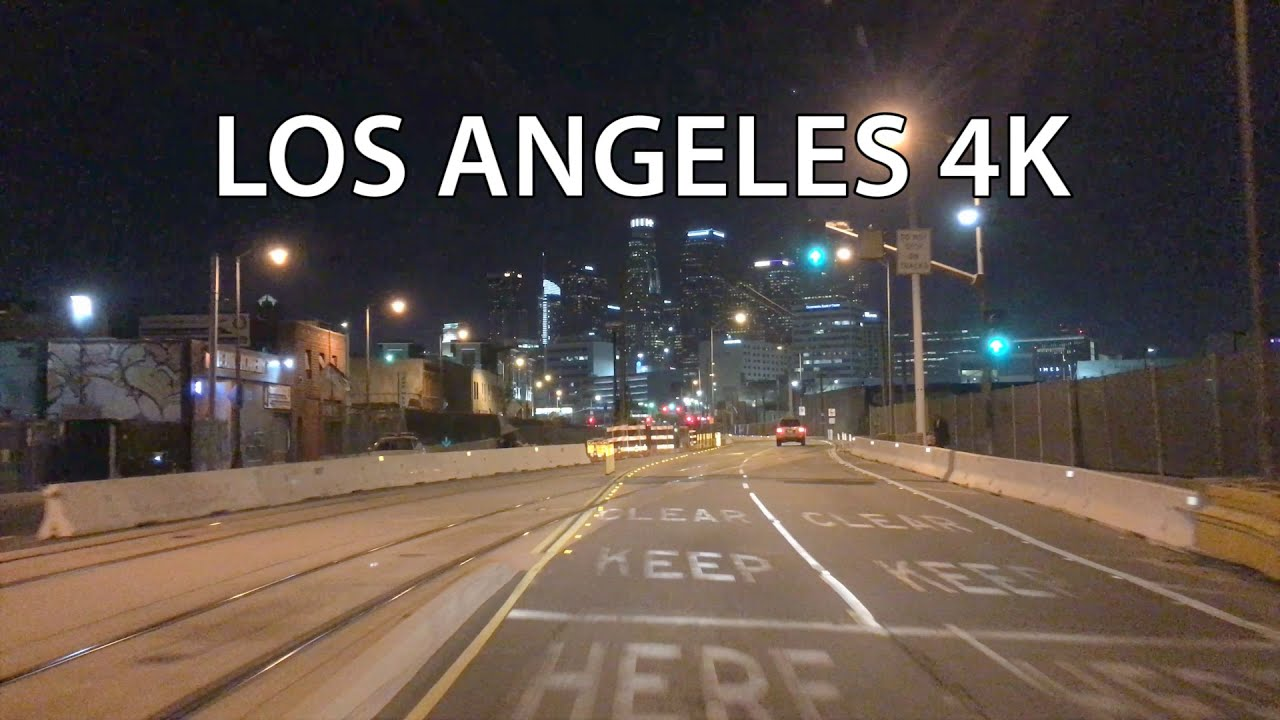 Los Angeles 4k Night Drive Youtube