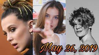 Instagram Stories Mix - Millie Bobby Brown, Barbara Palvin, Lucas Lynggaard Tonnesen (May 26, 19)