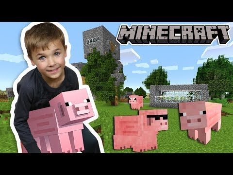 MAKING LITTLE PIG FARM in MINECRAFT SURVIVAL MODE