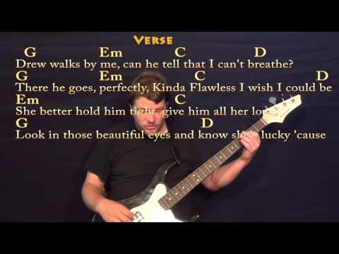 Teardrops on My Guitar (TAYLOR SWIFT) Easy Bass in G Cover Lesson with Lyrics / Chords