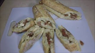 Bacon  and Brie Bagette Snack