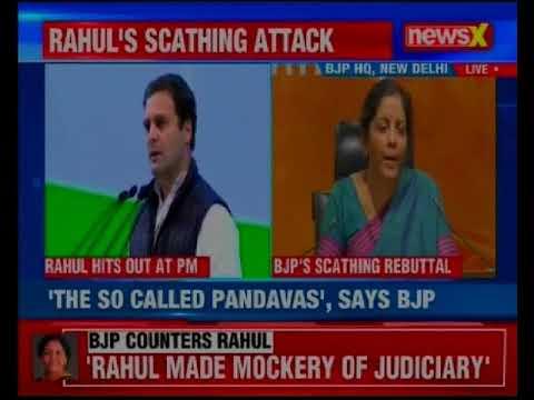 Defense Minister Nirmala Sitharaman hits back at Rahul Gandhi over Congress Plenary Session