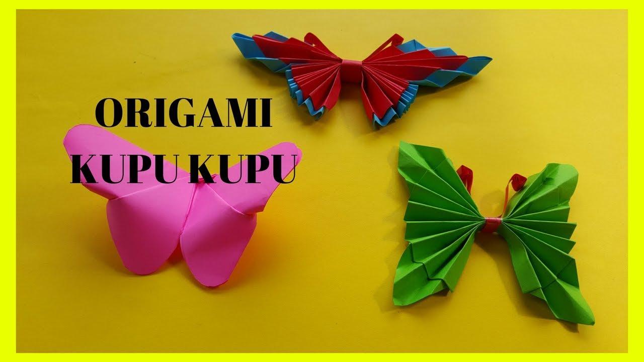 3 Cara Melipat Kertas Origami Kupu Kupu