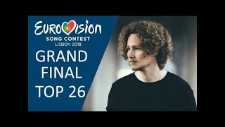 Eurovision 2018 | Grand Final - My Top 26 (With Comments & Ratings)