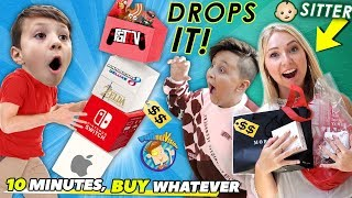 10 MINUTES, BUY WHATEVER CHALLENGE 4 BABYSITTER! + Chase's BWYCC Turn (FV Family)