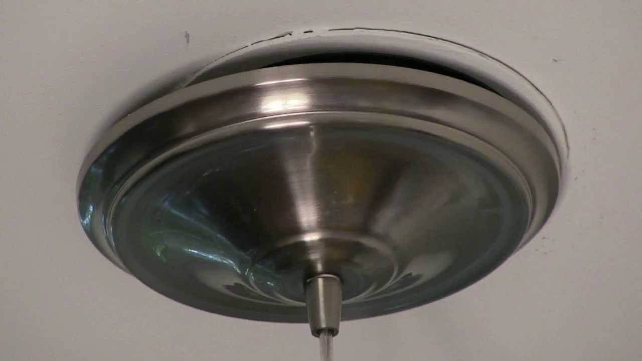 & Canopy Loose after hanging pendant light - fix. - YouTube