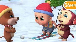 Ski Song winter holidays | Learn English | Jugnu Kids Nursery Rhymes & Kids Songs