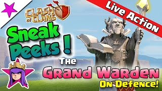 NEW Sneak Peek!! The Grand Warden on Defence! Clash of Clans Update!