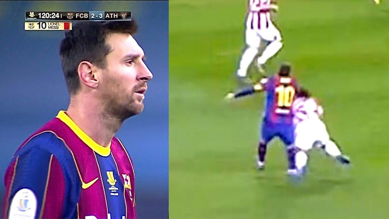 ПЕРВАЯ красная карточка Месси в карьере за Барселону. Вот как у Лео СДАЛИ НЕРВЫ в матче с Атлетиком