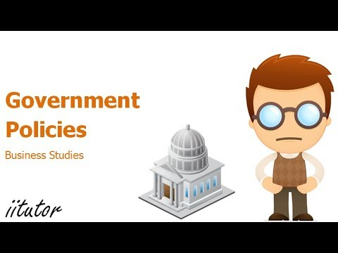 √ Main influences: Government policies | Business Studies | iitutor