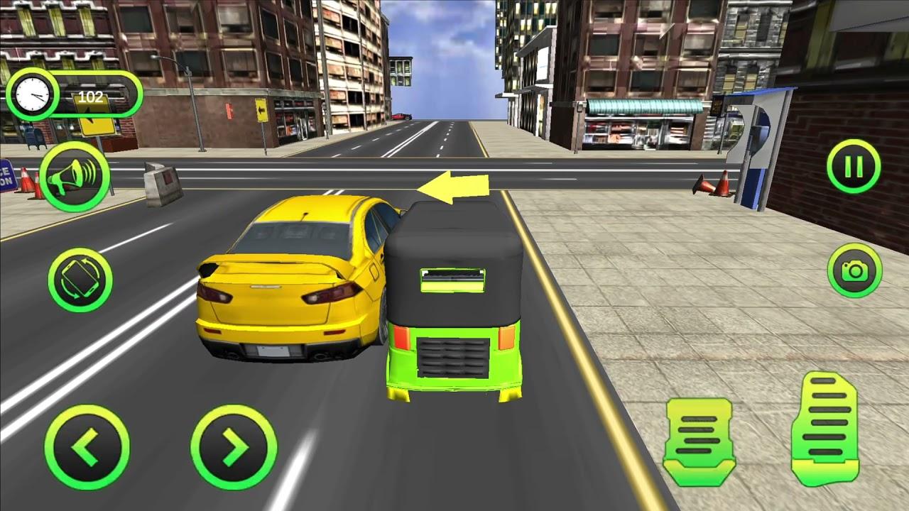 Tuk Tuk Rickshaw Driving Android Gameplay -  Auto Rickshaw Simulation Free Game