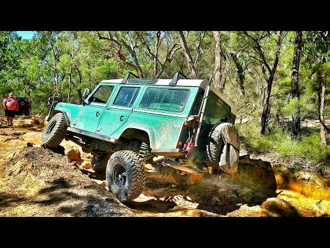 Land Rover 110 Testing 35 Inch Tyres @ The Colo Steps & Wheeny Creek
