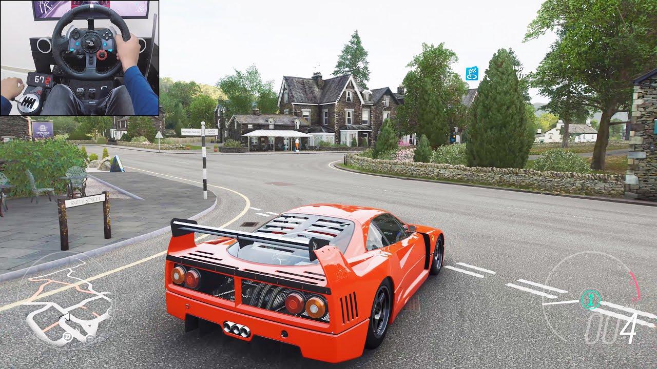 Ferrari F40 - Forza Horizon 4 | Logitech g29 gameplay thumbnail