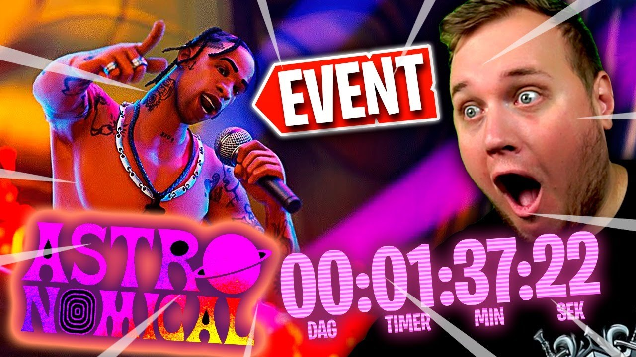 Reagerer LIVE på EVENT i FORTNITE :: Fortnite Dansk - Travis Scott Koncert Event