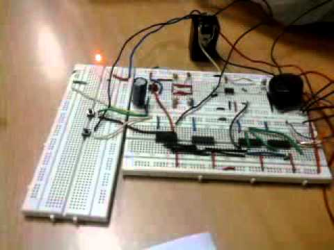 Digital Electronics Project: Circuit to Prevent Power Wastage - YouTube