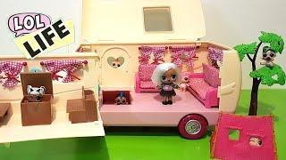 LOL Surprise! LOL Life! LOL Dolls Stop Motion - Hide and Seek Fail at the Li'l Woodzeez Happy Camper